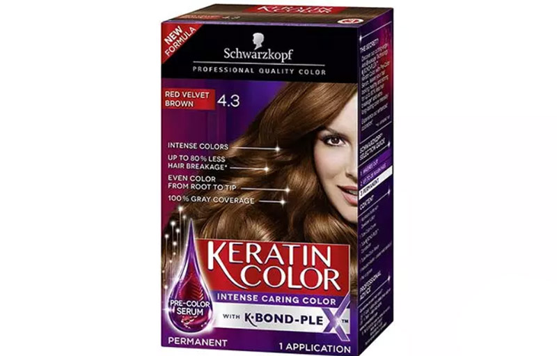 Schwarzkopf Keratin Color Intense Caring Color – Red Velvet Brown