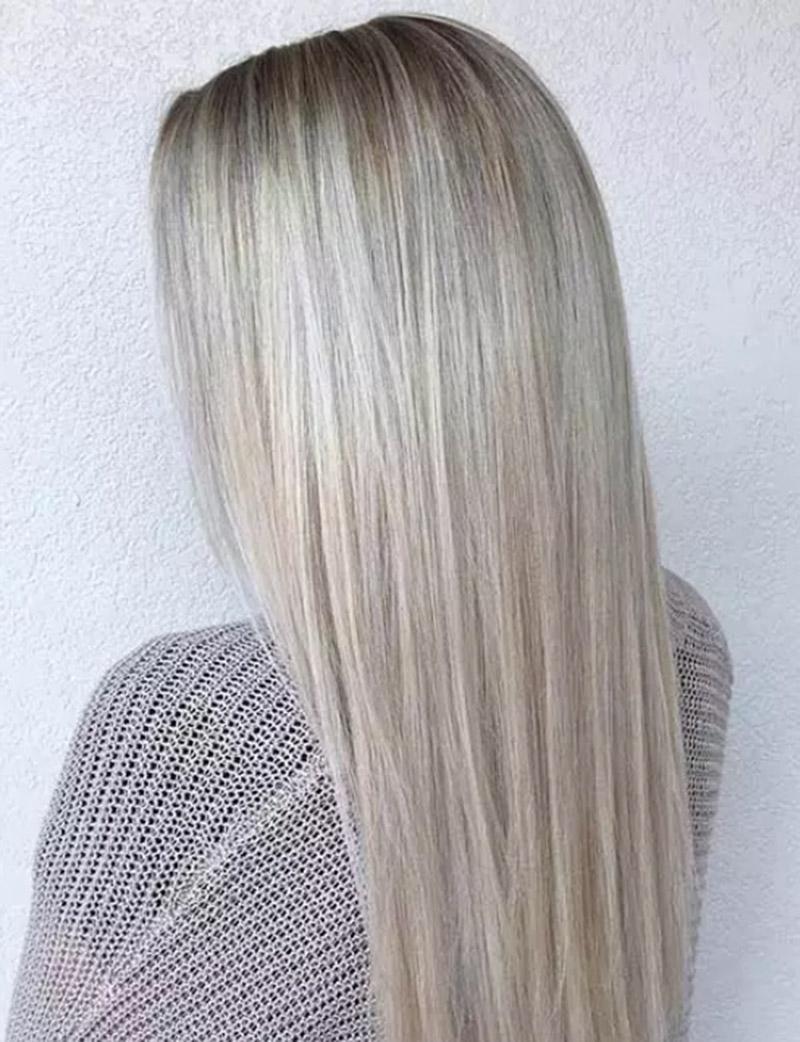 Màu tóc vàng ombre ánh kim