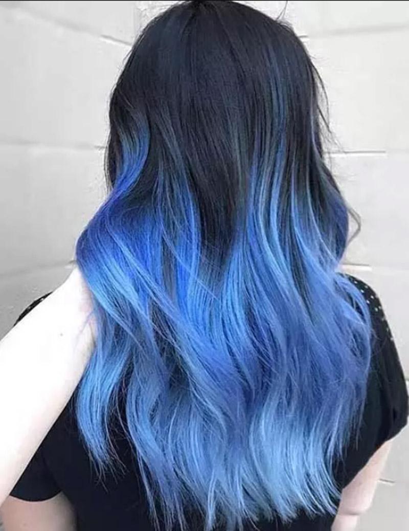 Kiểu tóc nhuộm màu ánh trăng nửa đêm