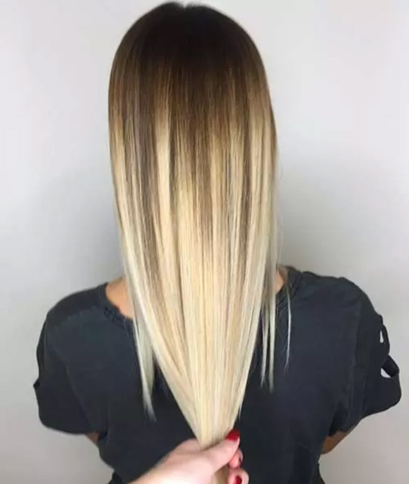 Màu tóc ombre cà phê