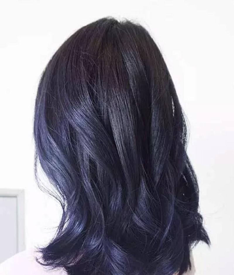 Tóc xanh tím đen