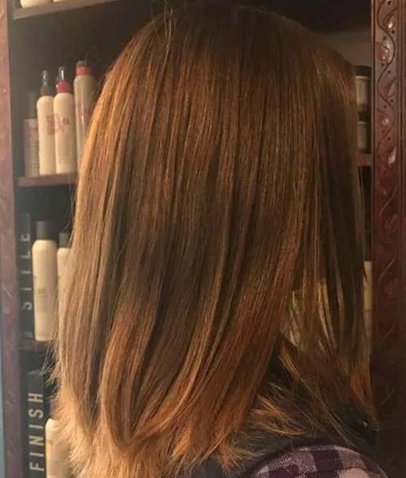 Nhuộm tóc nâu hung