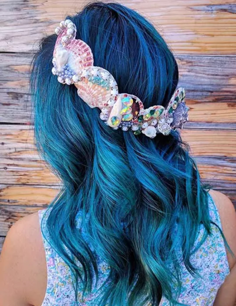 Kiểu tóc nàng tiên cá xanh
