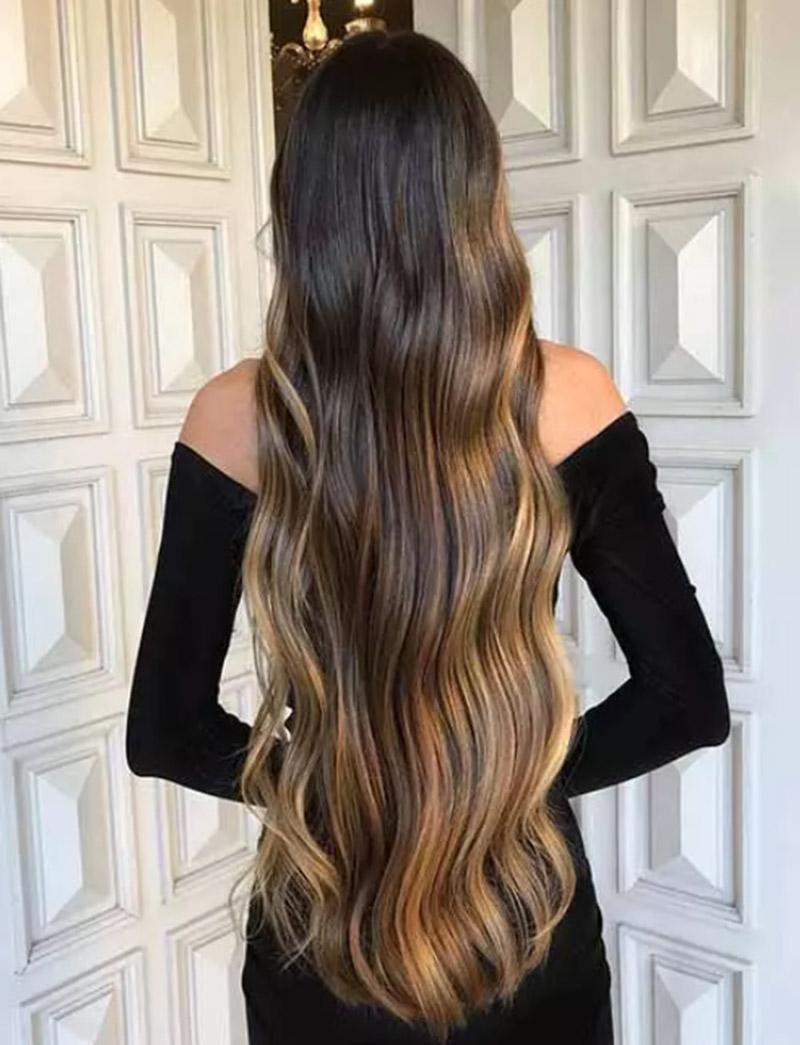 Mái tóc đen dài