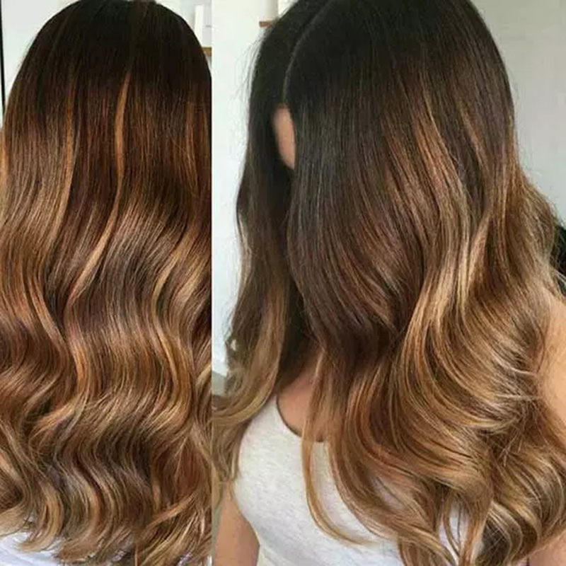 Màu Hazelnut ombre kết hợp màu nâu sẫm