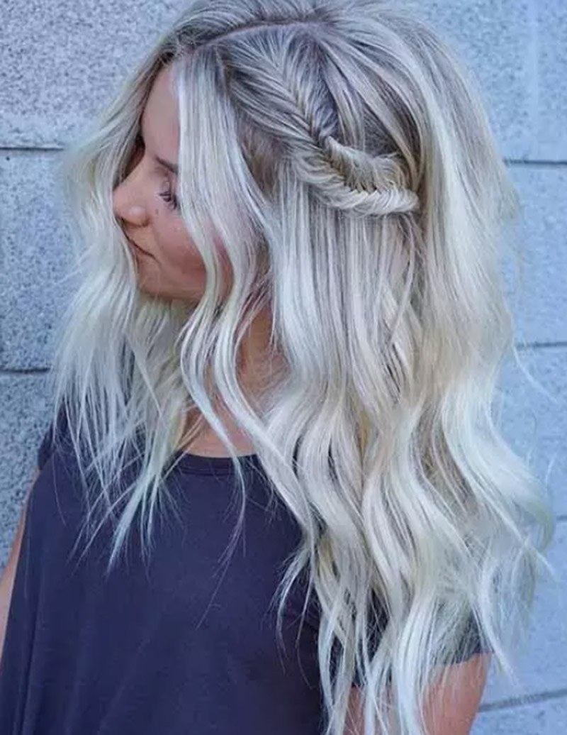 Màu tóc vàng băng giá