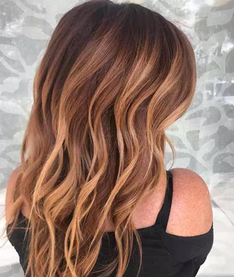 Mái tóc nhuộm Balayage màu hạt dẻ