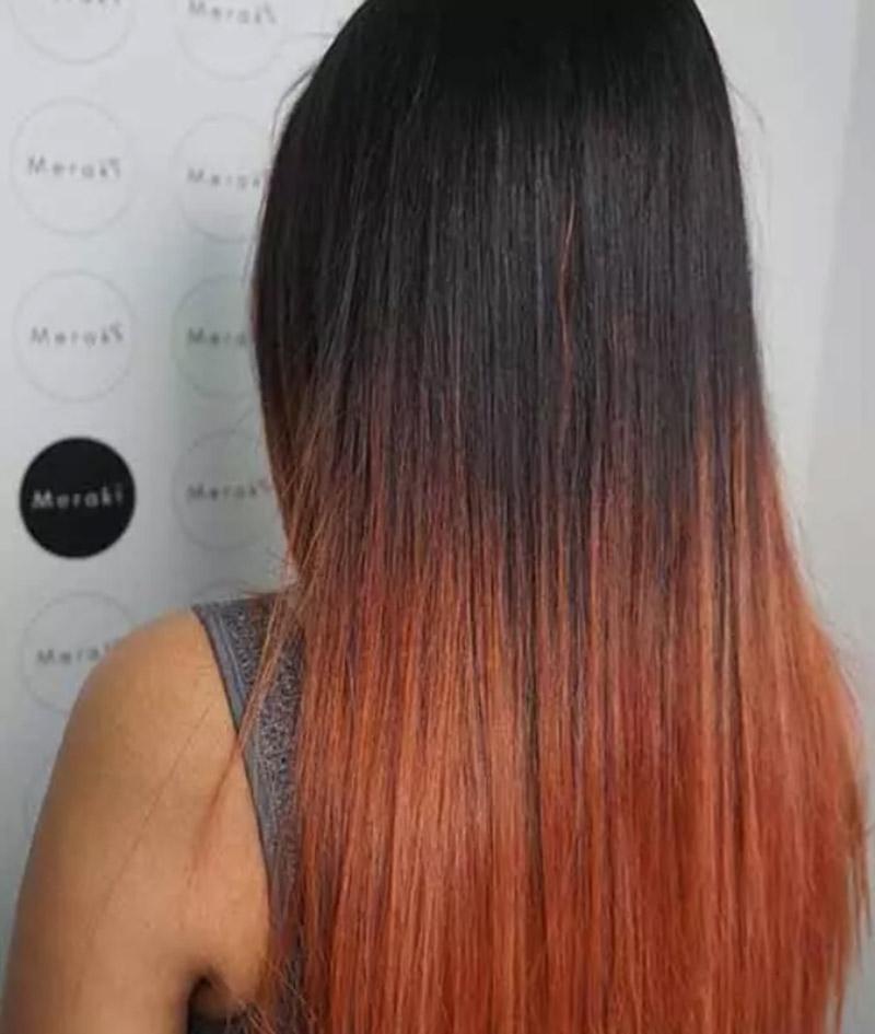 Tóc ombre kết hợp mái tóc đen
