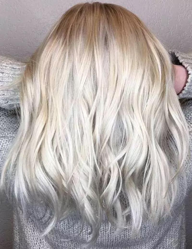 Màu vàng bạch kim tông lạnh