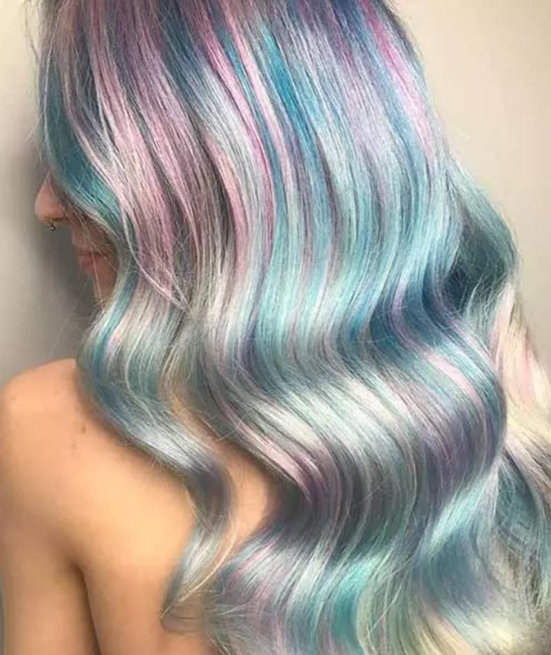 Kiểu tóc nhuộm pastel ngọt ngào