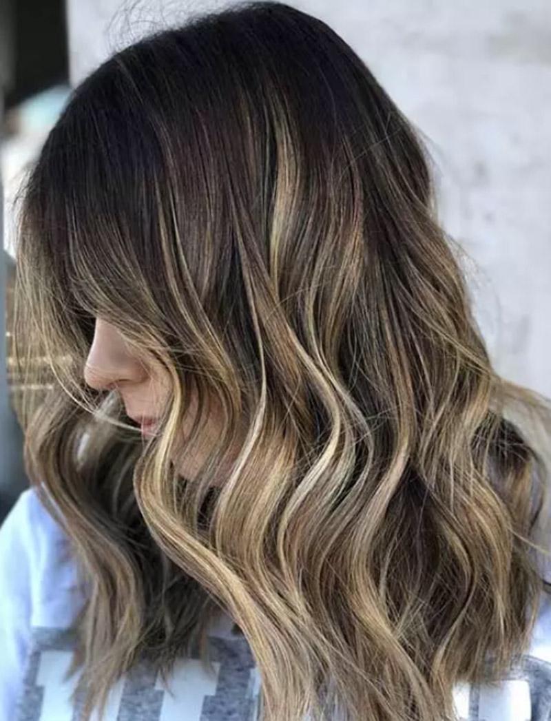 Balayage tóc vàng đa chiều