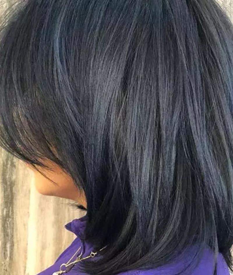 Tóc đen xanh