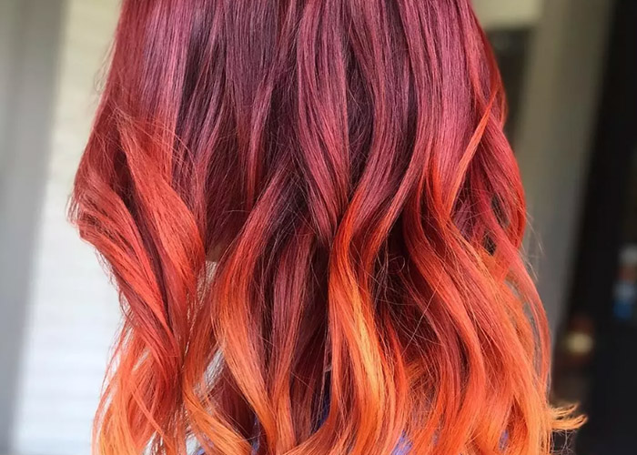 20 Cách tạo kiểu tóc màu ombre đỏ rực giúp nàng thêm cá tính