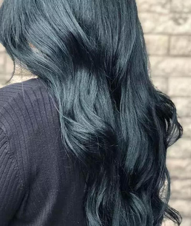 20 Kiểu tóc nhuộm màu xanh đen tuyệt đẹp dành cho các chị em