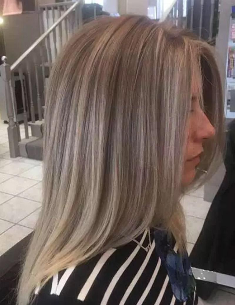 Tóc màu tro mềm mại