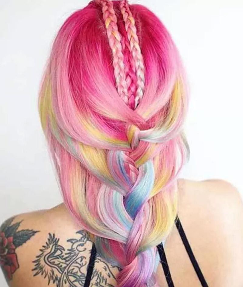 Kiểu tóc nàng tiên cá hồng