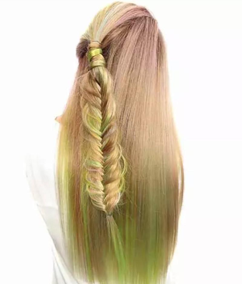Kiểu tóc nhuộm đuôi cá tinh tế