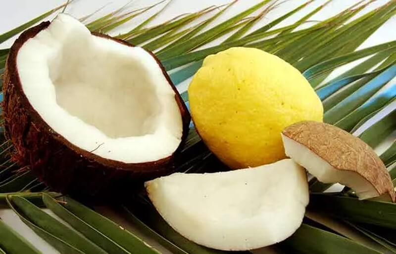 Dầu dừa và nước chanh