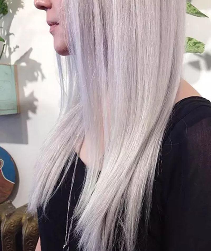 Thuốc nhuộm tóc vàng thiên trắng bạc