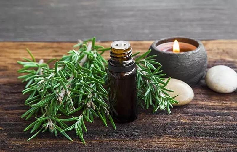 Kết hợp dầu hương thảo và dầu thầu dầu
