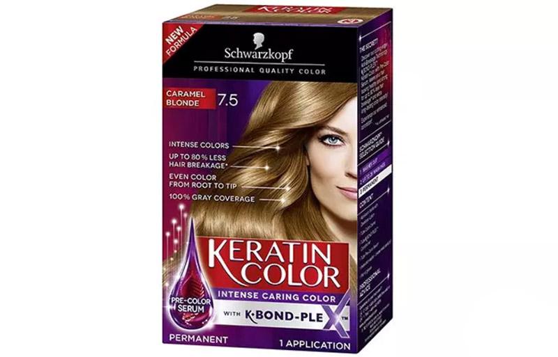 Schwarzkopf Keratin Color Intense Caring Color – Caramel Blonde 7.5