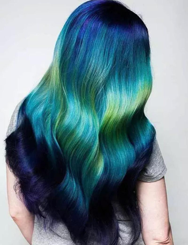 Kiểu tóc nhuộm Ocean Depths
