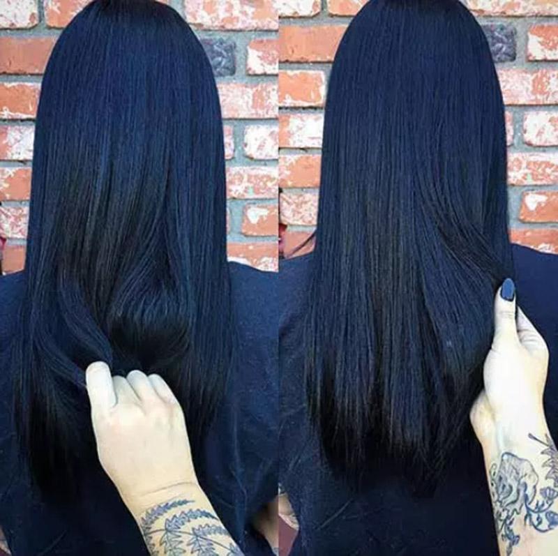 Tóc đen xanh thẫm