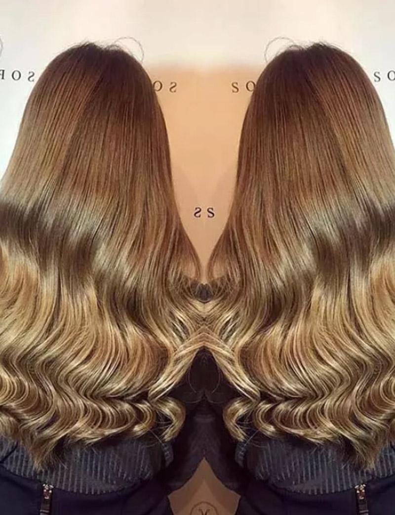 Màu tóc nâu nhạt