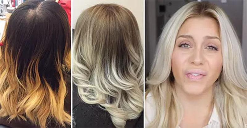 Cách biến mái tóc màu cam thành màu vàng