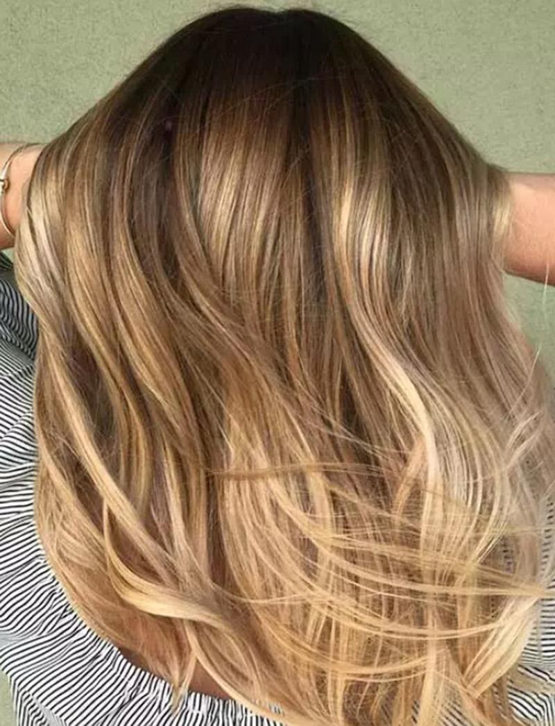 Màu tóc vàng ấm áp