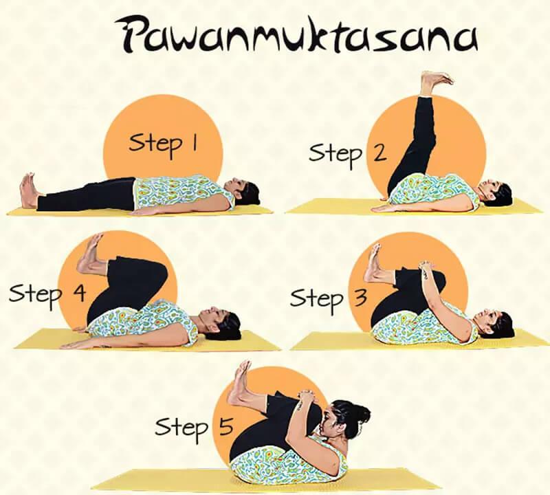 Pawanmuktasana - Tư thế thư giãn