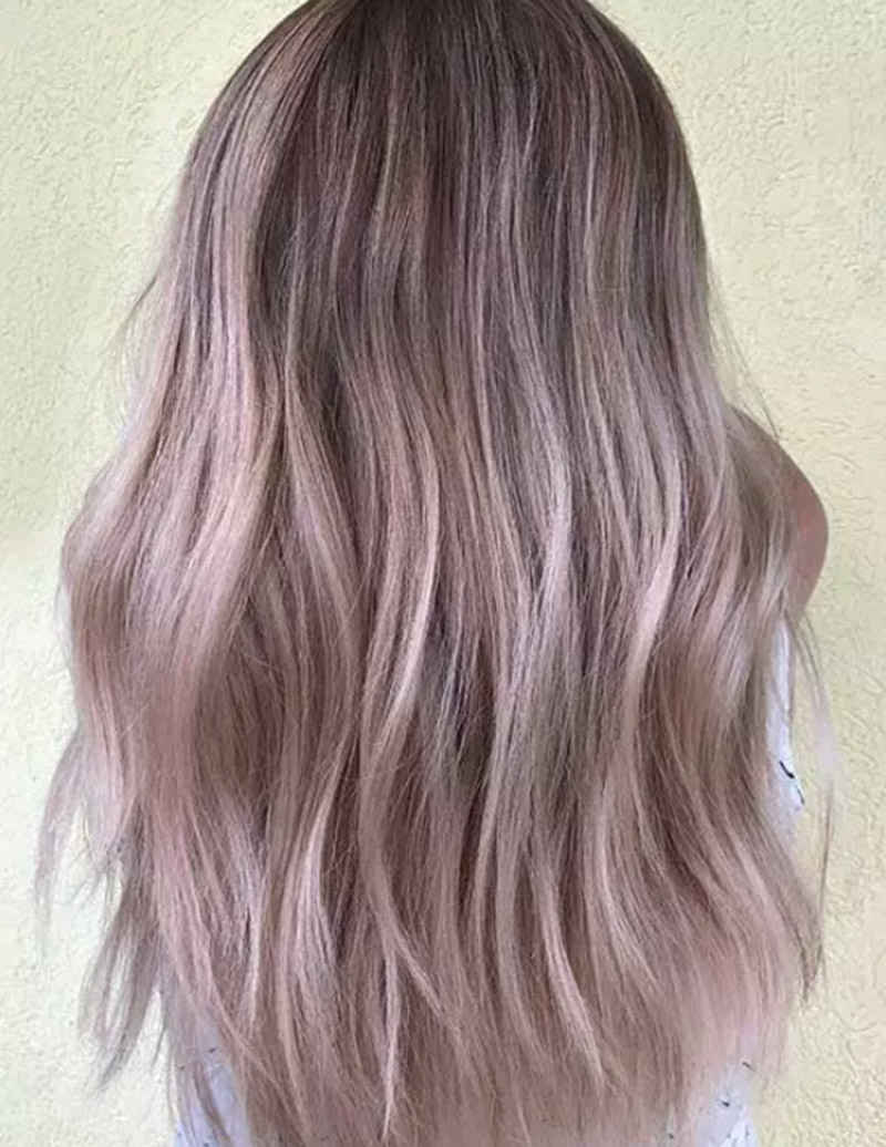 Màu tóc vàng ánh hồng