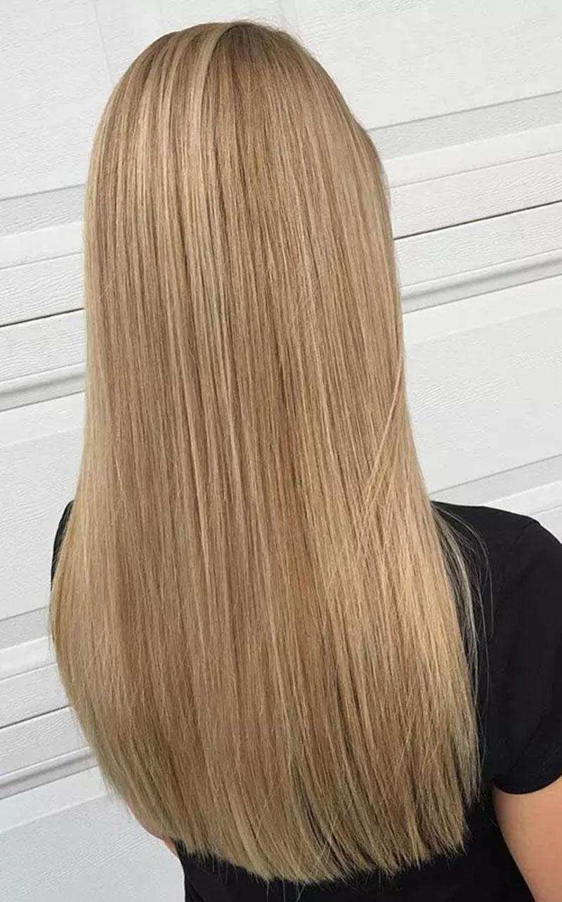 Nhuộm tóc vàng dâu tây