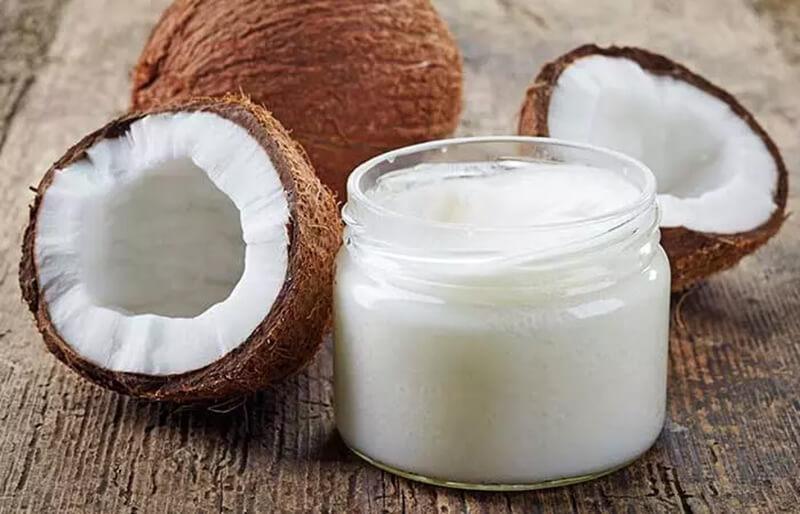 Dầu dừa và nước ép hành tây