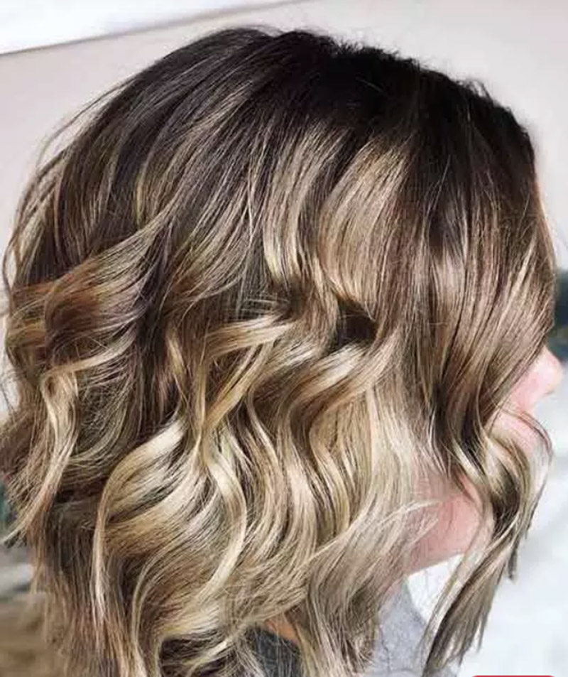 Balayage tóc tone vàng ấm áp