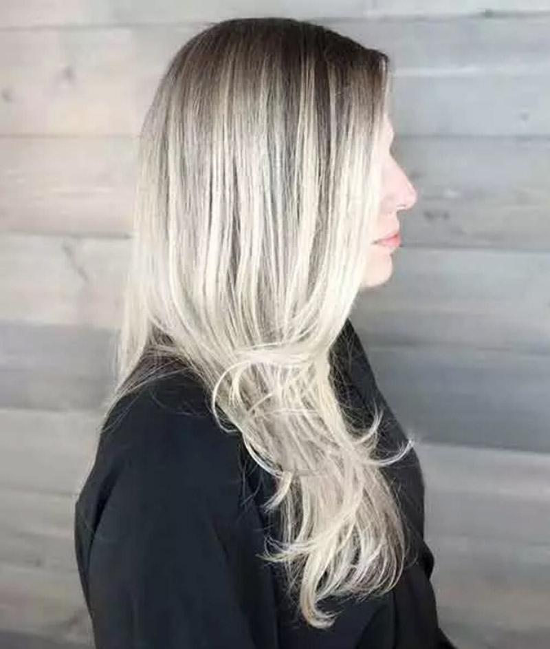 Balayage tóc vàng bạch kim