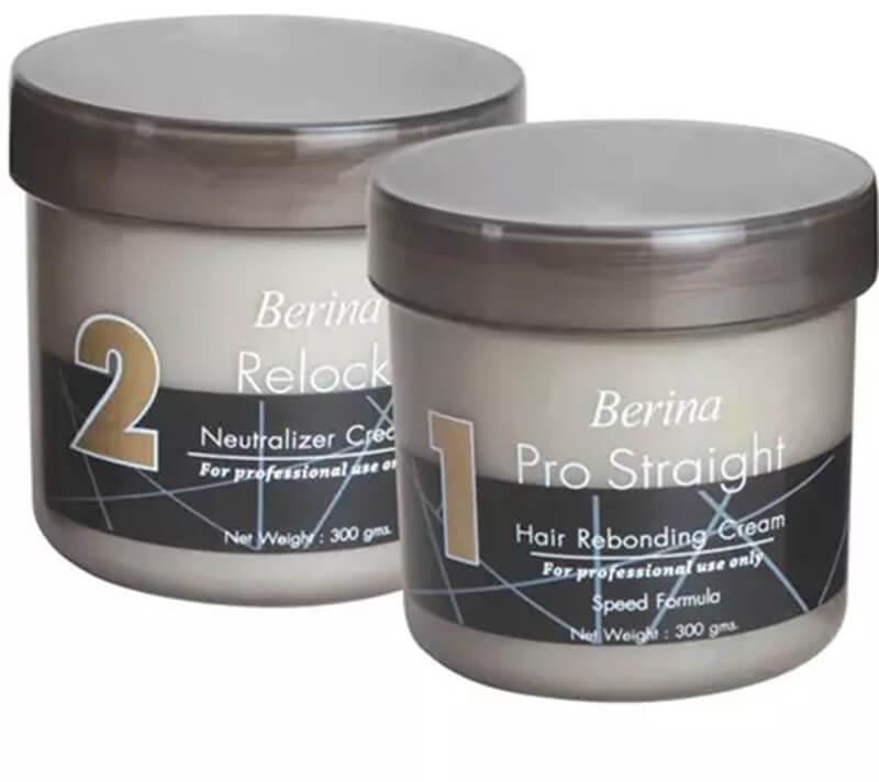 Berina Pro Straight Hair Rebonding Cream And Neutralizer
