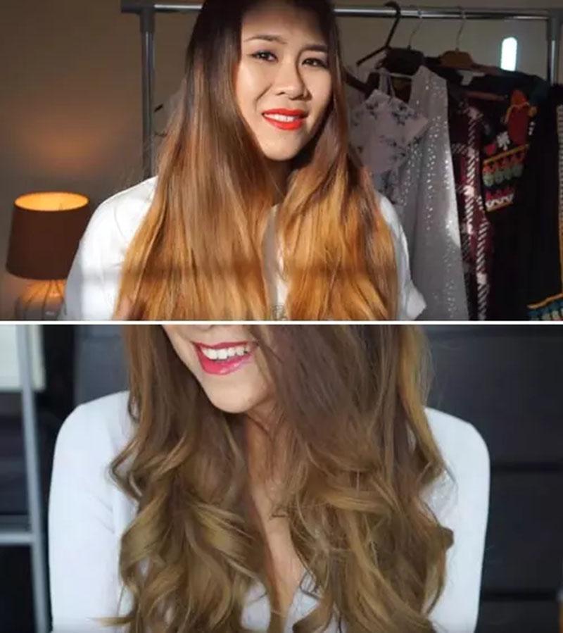 Cách biến mái tóc màu cam thành màu nâu sáng