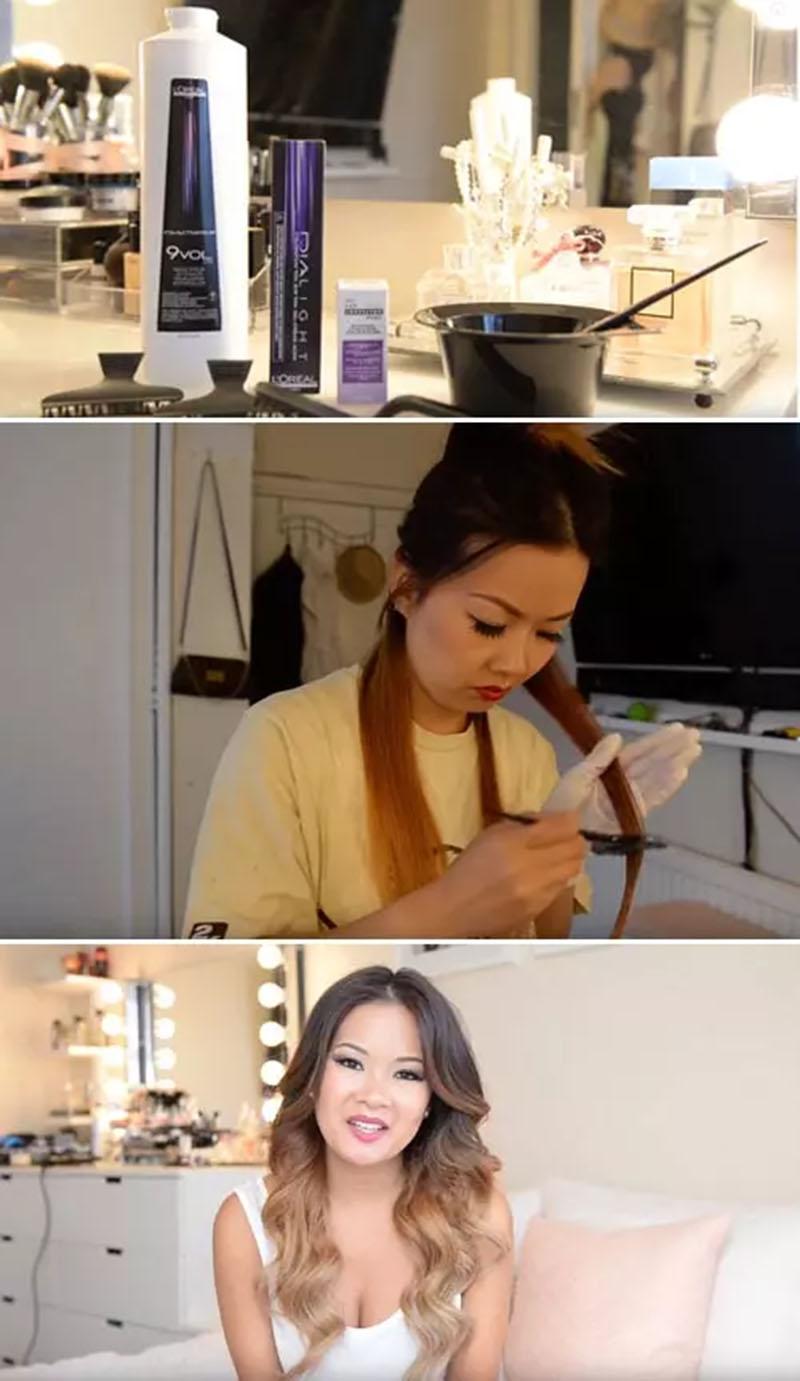 Cách khắc phục tóc bị lỗi màu cam với thuốc nhuộm tóc