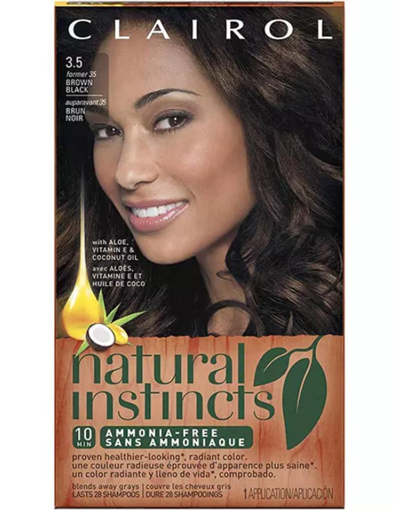 Clairol Natural Instincts Hair Color – 35 Brown Black