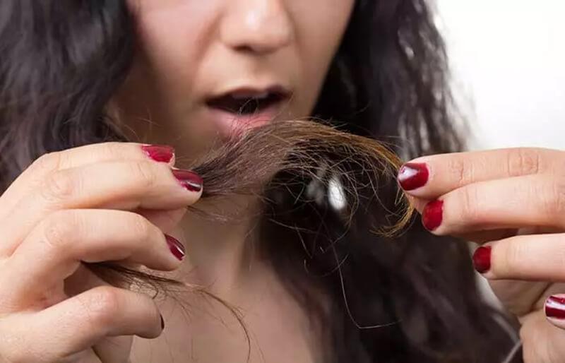 Đuôi tóc bị chẻ ngọn