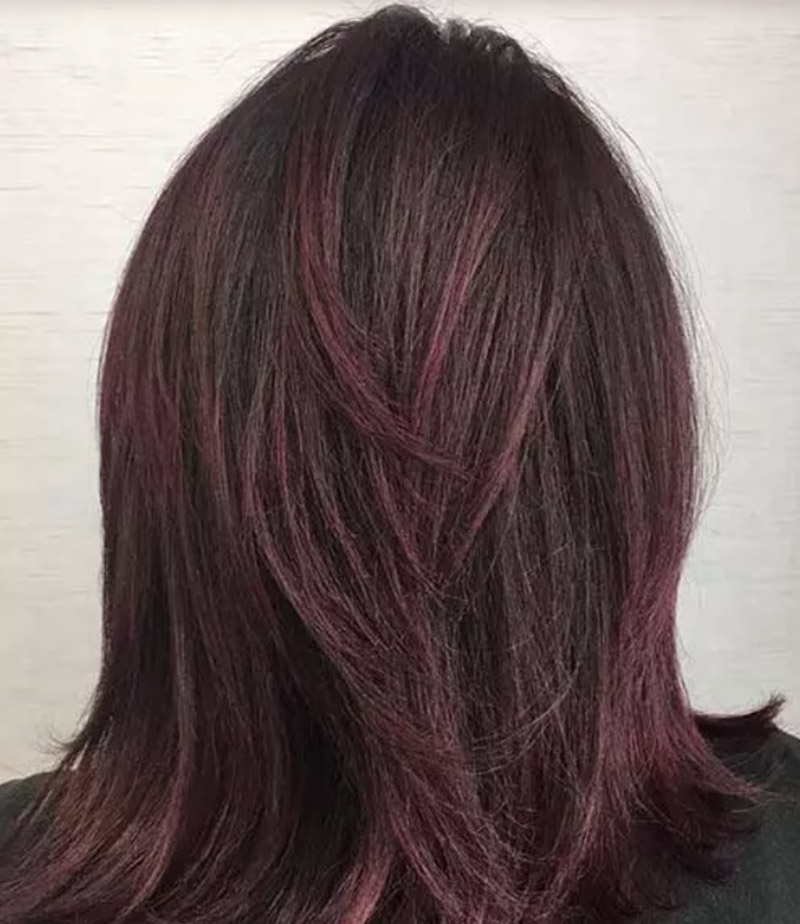 Kiểu tóc tím hoa cà dịu dàng