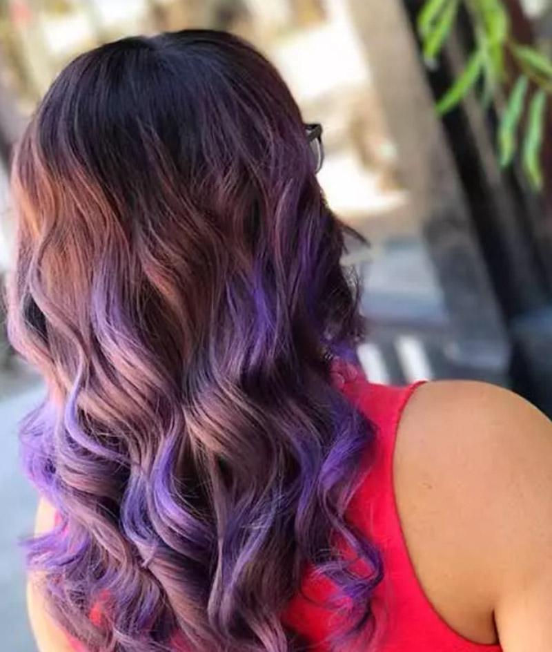 Kiểu tóc tím tử đinh hương nổi bật