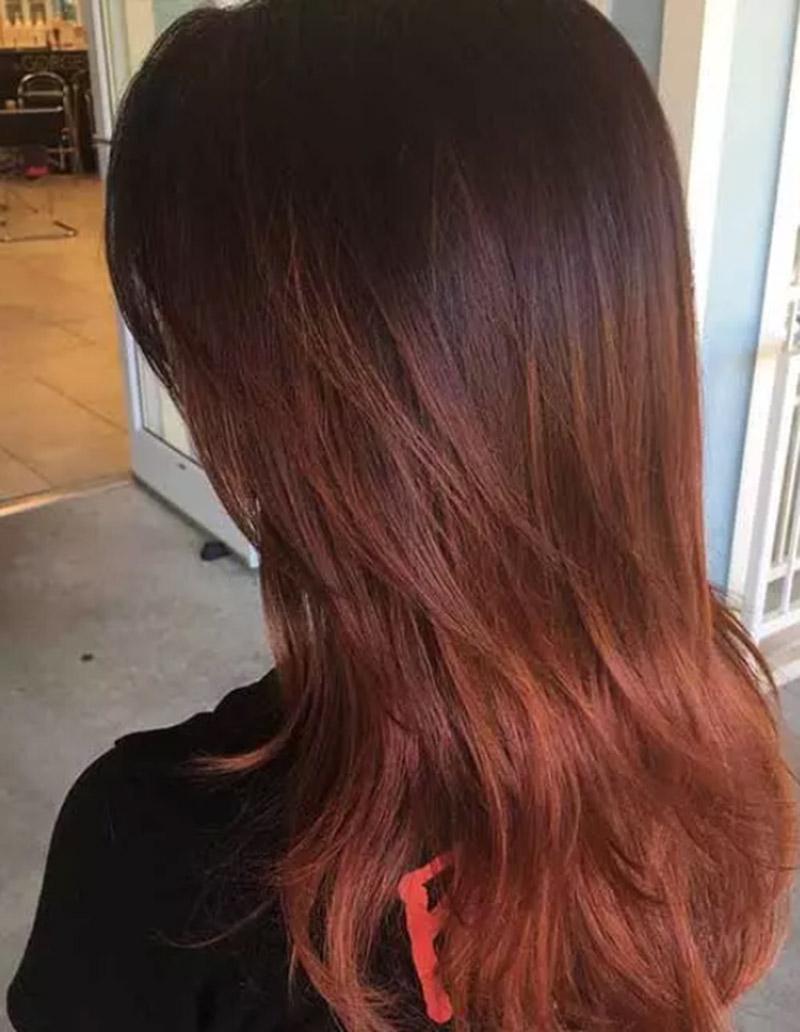 Màu tóc gừng pha ánh đỏ