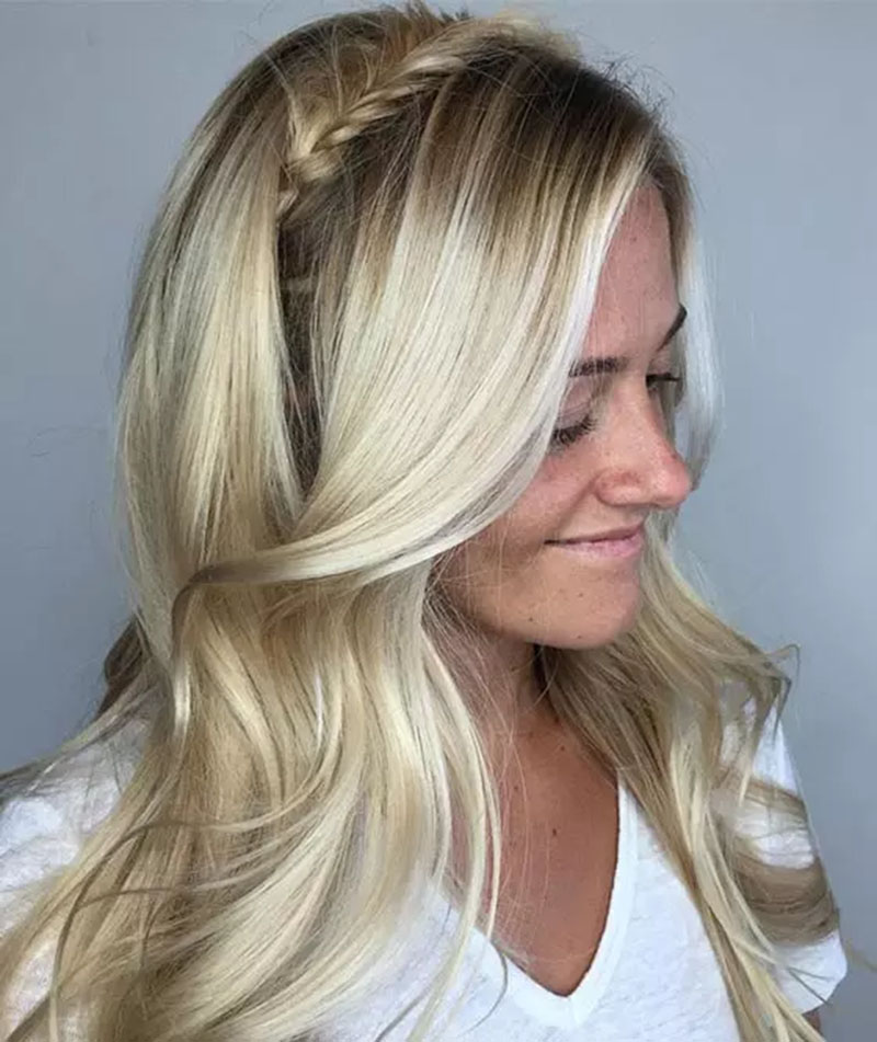 Nhuộm tóc vàng trắng