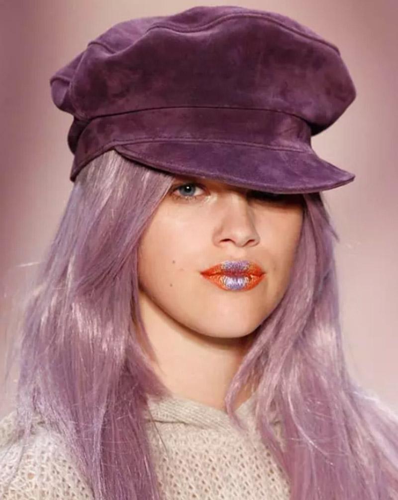 Tóc layer màu tím