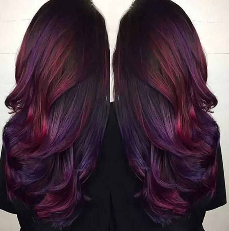 Tóc uốn sóng hai màu