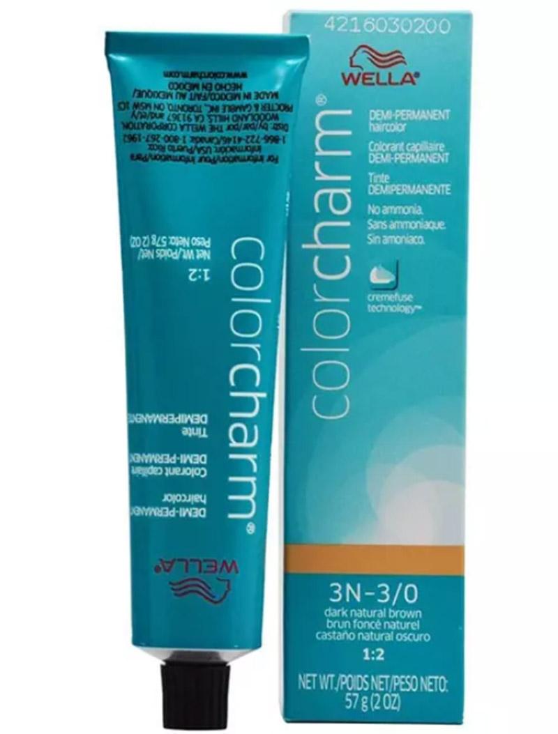 Wella Color Charm Demi-Permanent Hair Color – 3N-3/O Dark Natural Brown